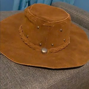 Accessories - leather braided cowgirl hat